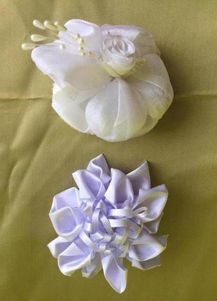 Заколки для волос бант цветок