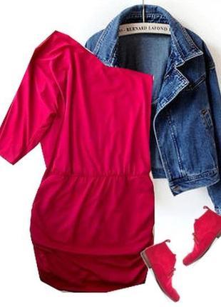 Стрейчевое платье на одно плечо