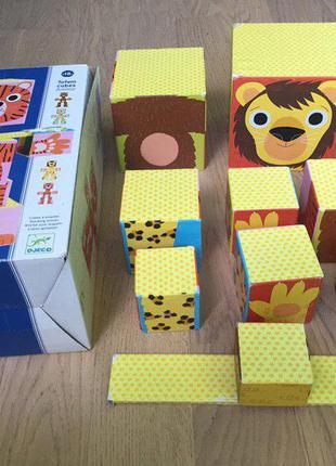 """Настольная игра из кубиков """"тотем - животные"""" от djeco"""