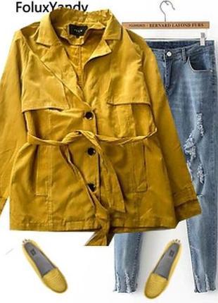 Плащ пиджак под замш без подкладки