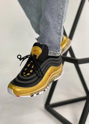 Nike air max black gold, мужские кроссовки