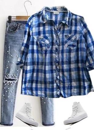Модная рубашка большой размер