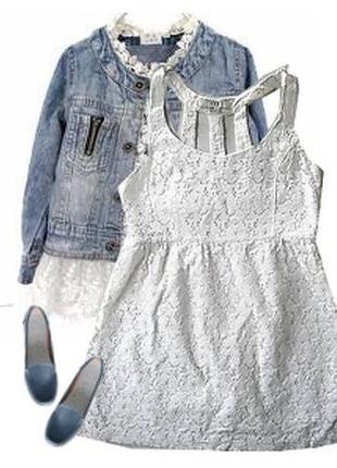 Модное платье гипюр катон