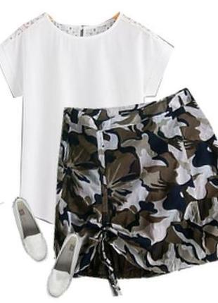 Легкая юбка модный принт