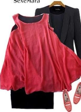 Нарядное платье с шефоновой накидкой