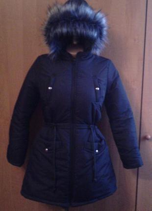 Зимняя парка-пуховик для девочки подростка