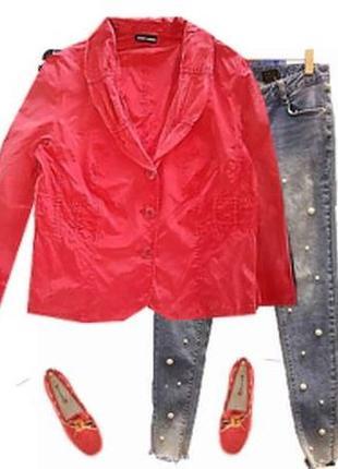 Легкий яркий пиджак большой размер