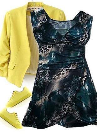 Легкое платье трикотаж масло