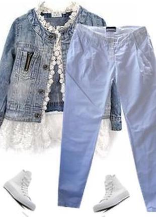 Модные брюки легкий джинс