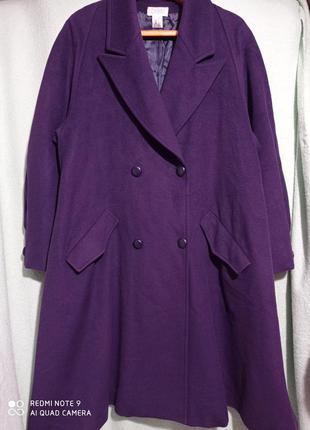 Двухбортное полуреглан натуральное 💯 шерсть с кашемиром пальто...