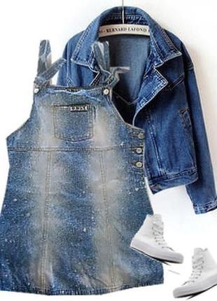 Легкий джинсовый сарафан