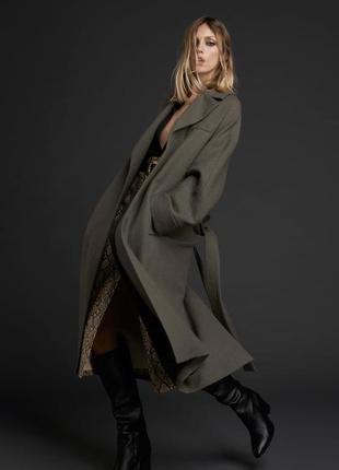 Шерстяное пальто zara лимитированная коллекци