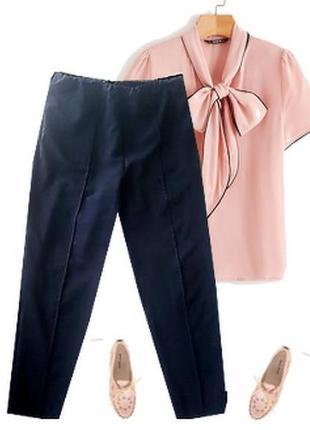 Нарядные легкие брюки пояс резинка