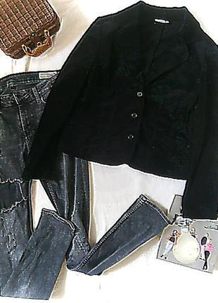 Бархатный стрейчевый пиджак