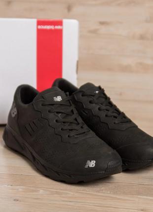 Мужские кожаные кроссовки New Balance Clasic Black(40-45р)