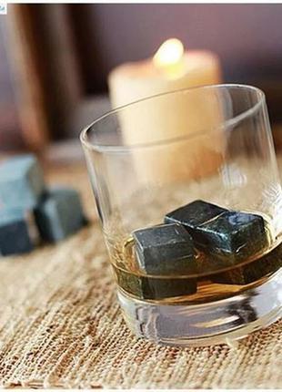 Камни для охлаждения виски и др напитков. стильный подарок