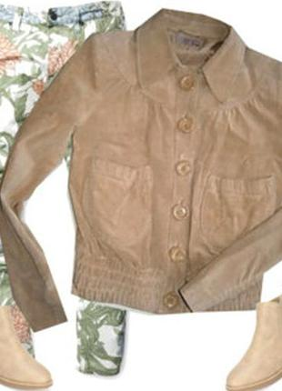 Замшевый пиджак размер 42-46