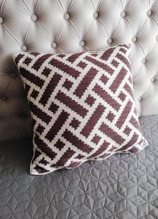 Декоративная подушка, чехол на подушку, вязаная подушка, интер...