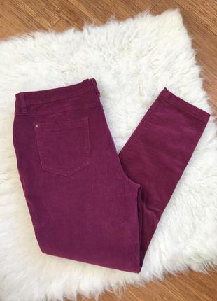 Вельветовые брюки, большой размер