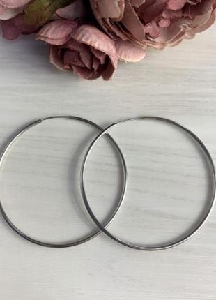 Серебряные серьги silverbreeze без камней (2005742)