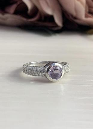 Серебряное кольцо silverbreeze с натуральным аметистом (204318...