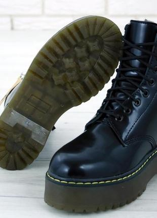 💖зимние💖dr martens jadon black,женские ботинки чёрные кожаные ...