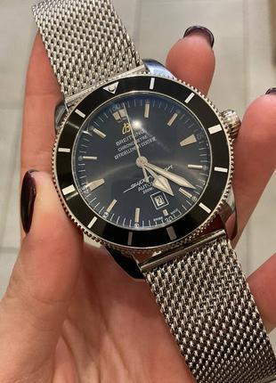 Наручные часы Breitling B20 Silver-Black, Наручний годинник