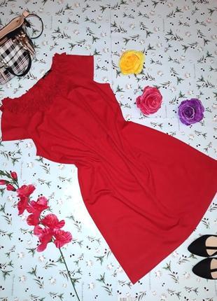 Нарядное красное платье marks&spencer, размер 50 - 52, длина миди