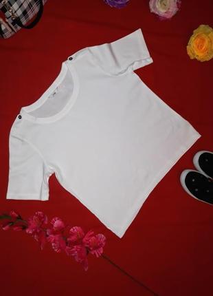 Акция 1+1=3 базовая хлопковая белая футболка  от marks&spencer...
