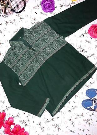 Акция 1+1=3 рубашка из хлопка с принтом в индийском стиле, раз...