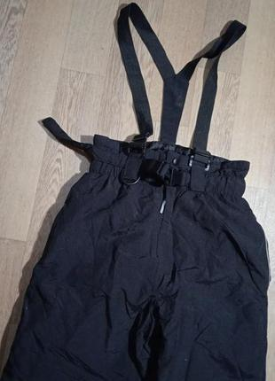 Термо полукомбинезон черный, теплый комбинезон, зимние штаны s...