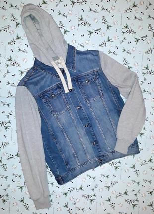 Джинсовая куртка с капюшоном burton, размер 50-52, большой размер
