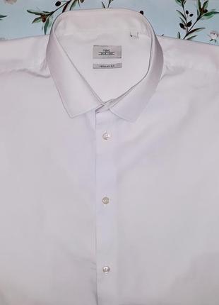 Шикарная белая рубашка из плотного коттона next, размер 52 - 54