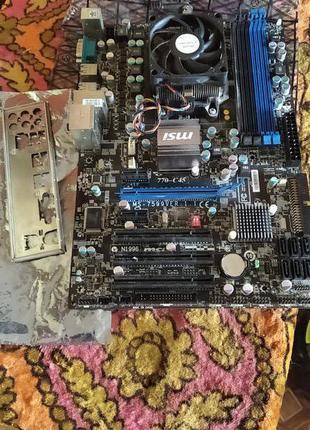Продам Материнскую Плату MSI 770 - C45 с Процессором