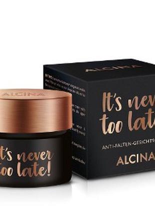 Крем для лица против морщин alcina it's never too late face cr...