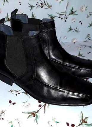 Акция 1+1=3 стильные мужские кожаные ботинки челси, размер 43