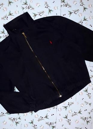 Стильная черная куртка бомбер ralph lauren, размер 50-52