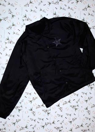 Стильная черная куртка ветровка, размер 52-54, дорогой бренд, ...