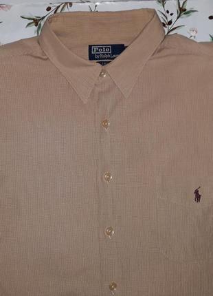 Стильная фирменная рубашка ralph lauren, размер 56 - 58, больш...