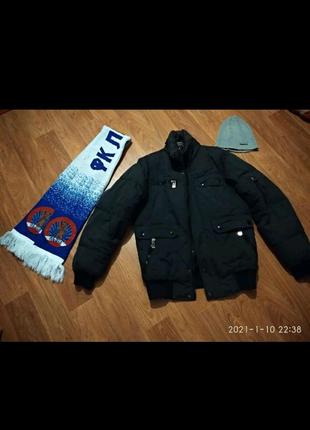 Куртка зимняя,теплый шарф, шапка Reebok