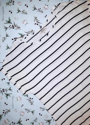 Акция 1+1=3 стильная актуальная белая блуза футболка в полоску...