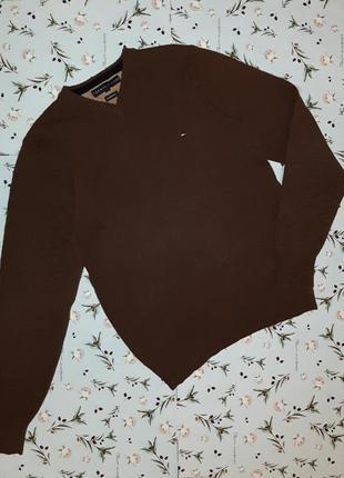 Фирменный теплый свитер tommy hilfiger оригинал из 100% шерсти...