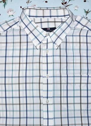 Стильная рубашка в клетку с коротким рукавом marks&spencer, ра...