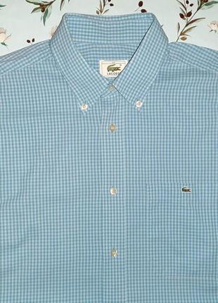 Стильная рубашка в клетку lacoste, размер 48 - 50