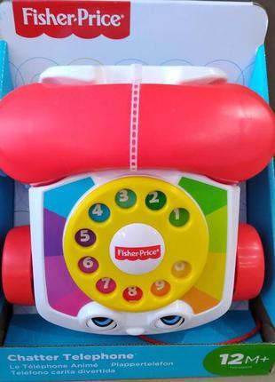 Динамичная игрушка-каталка веселый телефон fisher-price.