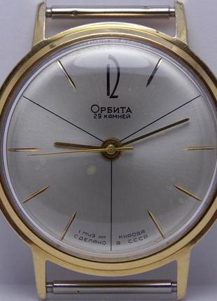 Часы редкие первого образца Орбита 0001119 автоподзавод позоло...