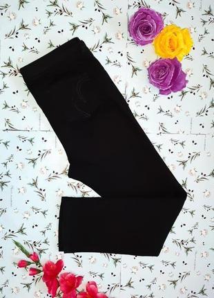 Шикарные стрейчевые черные прямые джинсы скинни per una, разме...