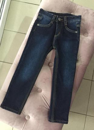 Утепленные джинсы на девочку 4 года