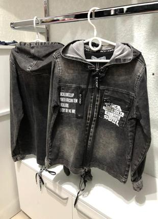 Джинсовый пиджак на мальчика