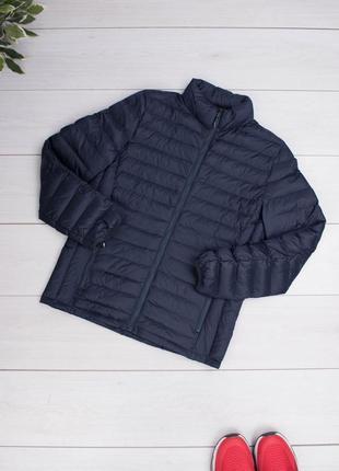 Мужская темно-синяя куртка без капюшона